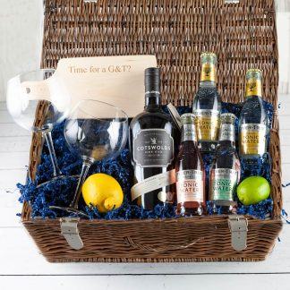 Cotswold Gin Hamper, luxury Gin Hamper, Gin Lovers Gifts, Hamper UK Delivery, Order Online, Cotswold Dry Gin, Fillet & Bone