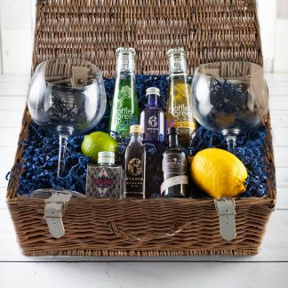 Gin Collection Hamper, Gin Gift Hamper, gifts for Gin lovers, luxury Gin Hamper - Fillet & Bone, Cotswold Gin