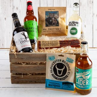 Cotswold Cider Crate, Cotswold Ciders, Cotswold Gifts, Luxury Gift Crate,Cotswold Food & Drink Hampers, UK Delivery, Gifts for Him
