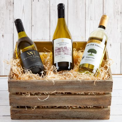 English Wine Crate, Wooden Crate, Fine English Wine, Local Wine, Fillet & Bone, Wine Gift, Cotswold Food Hampers, UK Delivery, Online Order,