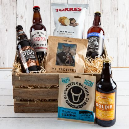 Cotswold Beer Crate ,Cotswold Food & Drink Hampers, Beer Lovers, Local Beers, Cotswold Beers, Gift Beers, Wooden Crate, Cotwold Gift, Luxury Gifts, UK Delivery