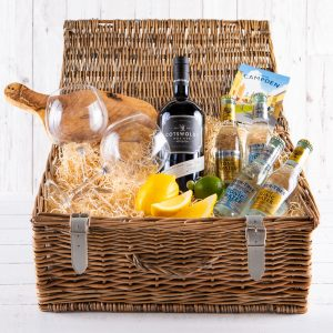 Cotswold Gin Hamper, Luxury Gin Hamper, Gin Lovers Gifts, Hamper UK Delivery, Order Online, Gin Gift, Cotswold Dry Gin, Fillet & Bone